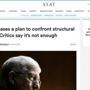 Platt Tells STAT News NIH Plan to Address Structural Racism is Promising