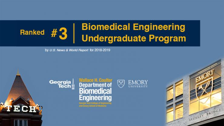 Biomedical Engineering Ranked No.3 in U.S. News Undergraduate Rankings