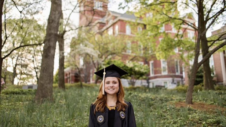 Commencement 2021: Brielle Lonsberry's Passions for Public Health, Helping People Merge as SGA President