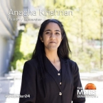 Anagha Krishnan Among 24 Under 24 Leaders and Innovators in STEAM and Space Award
