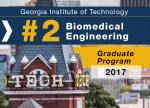 Biomedical Engineering Ranked #2 in U.S. News Graduate Rankings for 2017