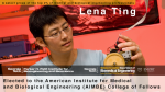 Lena Ting to be Inducted into Medical and Biological Engineering Elite