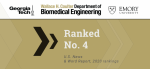 Biomedical Engineering Ranked No.4 in U.S. News Undergraduate Rankings